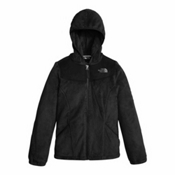 The North Face Oso Hoodie Girls Jacket, TNF Black, medium