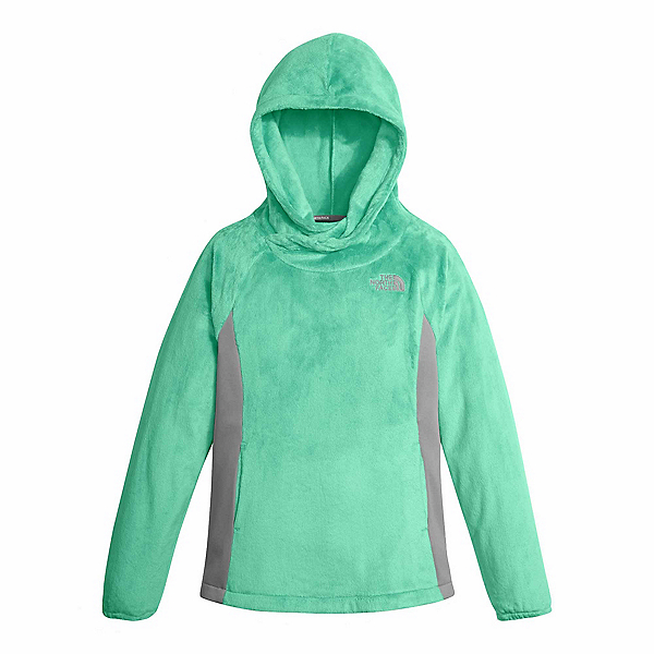 The North Face Oso Fleece Pullover Kids Hoodie, Bermuda Green, 600
