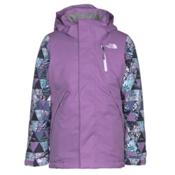 The North Face Leighli Insulated Girls Ski Jacket, Bellflower Purple, medium