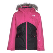 The North Face Caitlyn Insulated Girls Ski Jacket w/Faux Fur, Petticoat Pink, medium