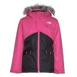 The North Face Caitlyn Insulated Girls Ski Jacket w/Faux Fur, Petticoat Pink, 256