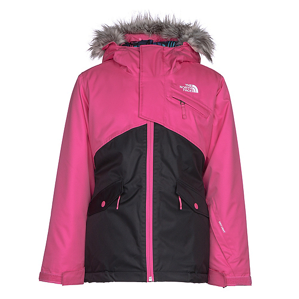 The North Face Caitlyn Insulated Girls Ski Jacket w/Faux Fur, Petticoat Pink, 600