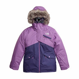 The North Face Caitlyn Insulated Girls Ski Jacket w/Faux Fur, Bellflower Purple, 256