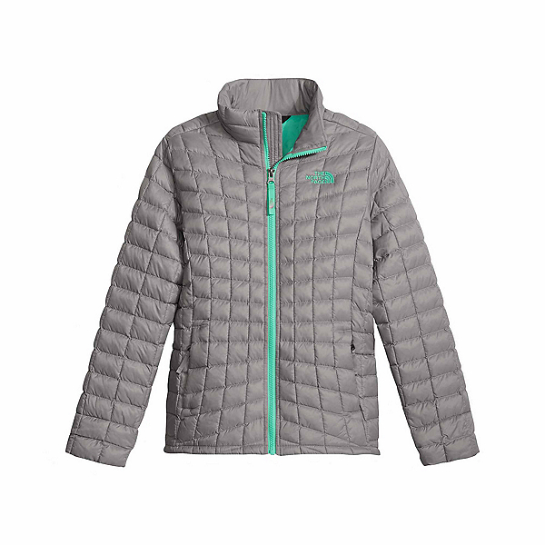 The North Face ThermoBall Full Zip Kids Midlayer, Metallic Silver, 600