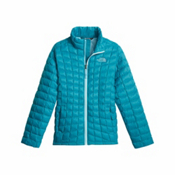 The North Face ThermoBall Full Zip Kids Midlayer, Algiers Blue, medium