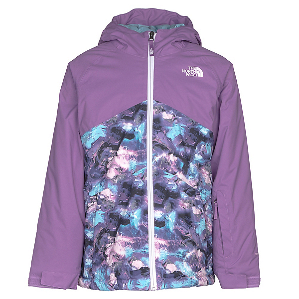 The North Face Brianna Insulated Girls Ski Jacket, Nimbus Blue Marble Print, 600