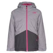 The North Face Brianna Insulated Girls Ski Jacket, Metallic Silver, medium