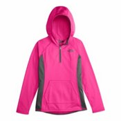 The North Face Tech Glacier 1/4 Zip Kids Midlayer, Petticoat Pink, medium