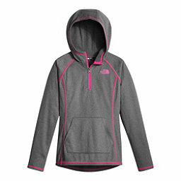 The North Face Tech Glacier 1/4 Zip Kids Midlayer, TNF Medium Grey Heather, 256