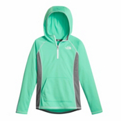 The North Face Tech Glacier 1/4 Zip Kids Midlayer, Bermuda Green, medium