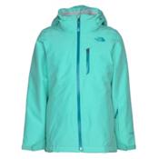 The North Face Fresh Tracks Triclimate Girls Ski Jacket, Bermuda Green, medium