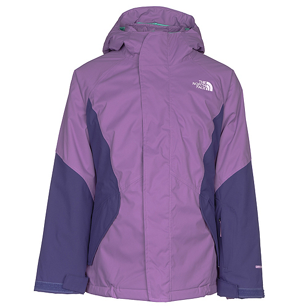 The North Face Kira Triclimate Girls Ski Jacket, Bellflower Purple, 600