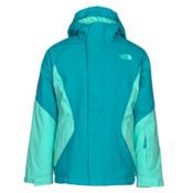 The North Face Kira Triclimate Girls Ski Jacket, Algiers Blue, medium