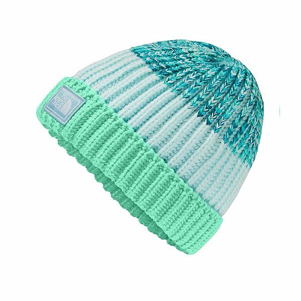The North Face Basic Beanie Kids Hat, Bermuda Green-Origin Blue Spac, 600