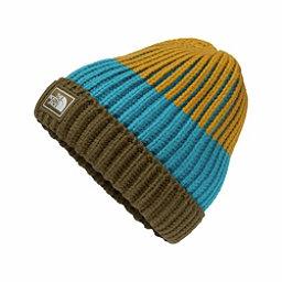 The North Face Basic Beanie Kids Hat, Burnt Olive Green-Arrowwood Ye, 256