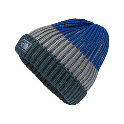 The North Face Basic Beanie Kids Hat, Conquer Blue-Mid Grey-Bright C, 256
