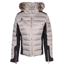 NILS Ula w/Faux Fur Womens Insulated Ski Jacket, Champagne-Black, 256