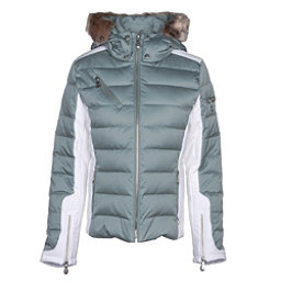 NILS Ula w/Faux Fur Womens Insulated Ski Jacket, Celadon-Winter White, 256