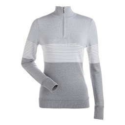 NILS Riley Womens Sweater, Steel Grey-Silver-White, 256