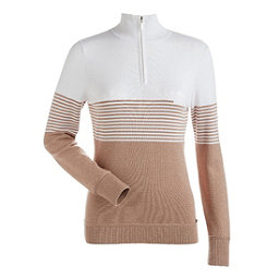 NILS Riley Womens Sweater, Copper-White-Copper, 256