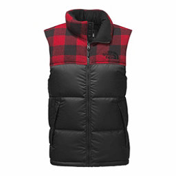 The North Face Novelty Nuptse Vest, TNF Black-Cardinal Red Grizzly, 256