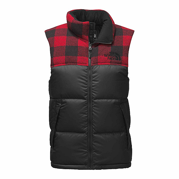 The North Face Novelty Nuptse Vest, TNF Black-Cardinal Red Grizzly, 600