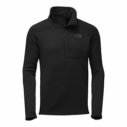The North Face Flux 2 Power Stretch 1/4 Zip Mens Mid Layer, TNF Black, 256