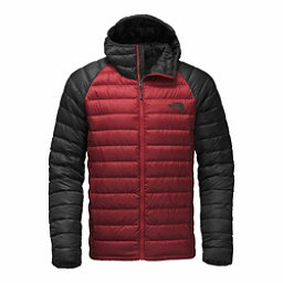 The North Face Trevail Hoodie Mens Jacket, Cardinal Red-Asphalt Grey, 256