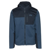 The North Face Apex Risor Hoodie Mens Soft Shell Jacket, Shady Blue-Urban Navy, medium