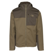The North Face Apex Risor Hoodie Mens Soft Shell Jacket, Burnt Olive Green-New Taupe Gr, medium