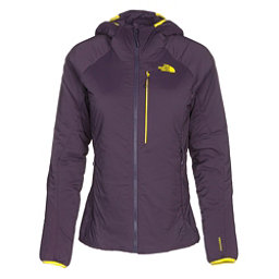 The North Face Ventrix Hoodie Womens Jacket, Dark Eggplant Purple-Acid Yell, 256