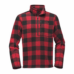 The North Face Novelty Gordon Lyons 1/4 Zip Mens Sweater, Cardinal Red Grizzly Print, 256