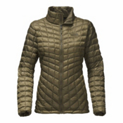The North Face ThermoBall Full Zip Womens Jacket, Burnt Olive Green, medium