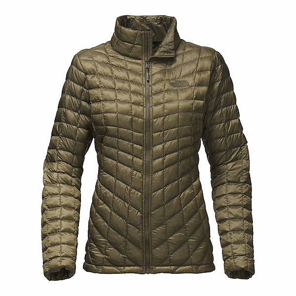 The North Face ThermoBall Full Zip Womens Jacket, Burnt Olive Green, 600