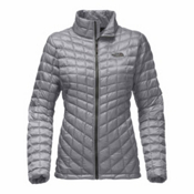 The North Face ThermoBall Full Zip Womens Jacket, Mid Grey, medium