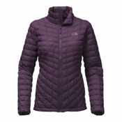 The North Face ThermoBall Full Zip Womens Jacket, Dark Eggplant Purple Matte, medium