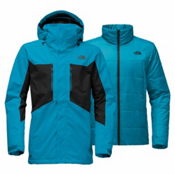The North Face Clement Triclimate - Tall Mens Insulated Ski Jacket, Brilliant Blue-TNF Black, medium