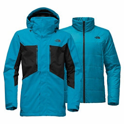 The North Face Clement Triclimate - Tall Mens Insulated Ski Jacket, Brilliant Blue-TNF Black, 256