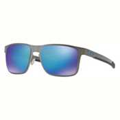 Oakley Holbrook Metal PRIZM Polarized Sunglasses, Gunmetal-Prizm Sapphire Polarized, medium