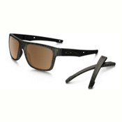 Oakley Crossrange PRIZM Polarized Sunglasses, Woodgrain-Prizm Tungsten Polarized, medium