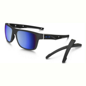 Oakley Crossrange PRIZM Polarized Sunglasses, Matte Dark Gray-Prizm Deep Water Polarized, medium