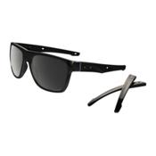 Oakley Crossrange XL PRIZM Polarized Sunglasses, Polished Black-Prizm Black Polarized, medium