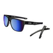 Oakley Crossrange XL PRIZM Polarized Sunglasses, Grey Smoke-Prizm Deep Water Polarized, medium
