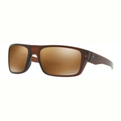 Oakley Drop Point PRIZM Polarized Sunglasses, Matte Root Beer-Prizm Tungsten Polarized, medium