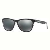 Oakley Frogskins Sunglasses, Eclipse Clear-Black Iridium, medium