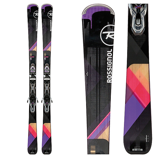 Rossignol Famous 6 Womens Skis with Xpress 11 Bindings 2018, , 600