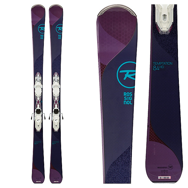 Rossignol Temptation 84 HD Womens Skis with Xpress 11 Bindings 2018, , 600