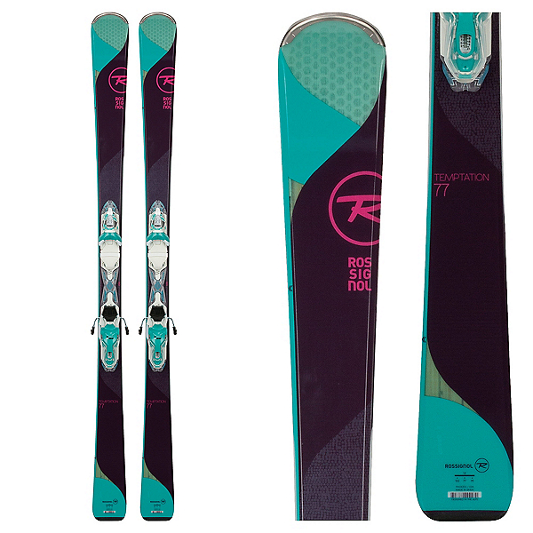 Rossignol Temptation 77 Womens Skis with Xpress 10 Bindings 2018, , 600