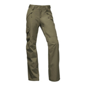 The North Face Freedom Insulated Womens Ski Pants, Burnt Olive Green, medium