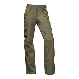 The North Face Freedom Insulated Womens Ski Pants, Burnt Olive Green, 256